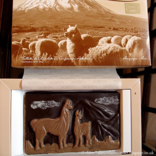 llama themed chocolate