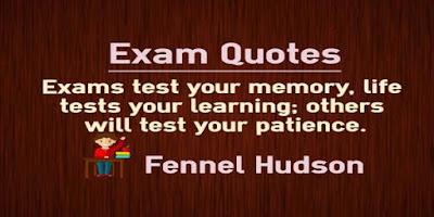 Quotes On Exam