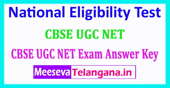 CBSE UGC NET Answer Key 2018 UGC National Eligibility Test 2018 Answer Key Download