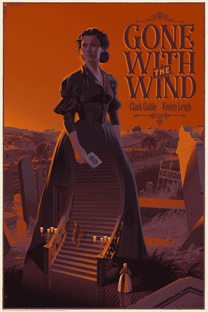 Gone with the Wind Regular Edition Screen Print by Laurent Durieux x Dark Hall Mansion