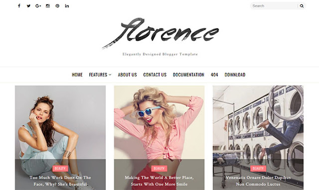 Florence Responsive Free Blogger Template