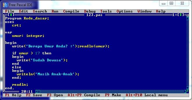 belajar bahasa pemrograman pascal