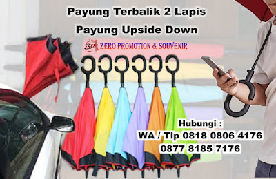 Jual Payung Terbalik 2 Lapis - Payung Upside Down  | Barang Promosi, Mug Promosi, Payung Promosi, Pulpen Promosi, Jam Promosi, Topi Promosi, Tali Nametag
