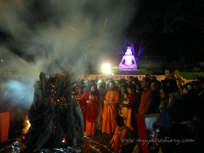 Holika Dahan ritual on the eve of Holi in India
