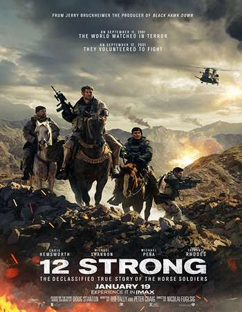Poster of movie 12 Strong 2018 English 720p Full HD 999MB