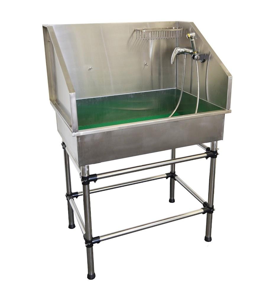 Flying Pig Grooming 38 Inch Mini Stainless Steel 16 Gauge Dog Pet Grooming Bath  Tub
