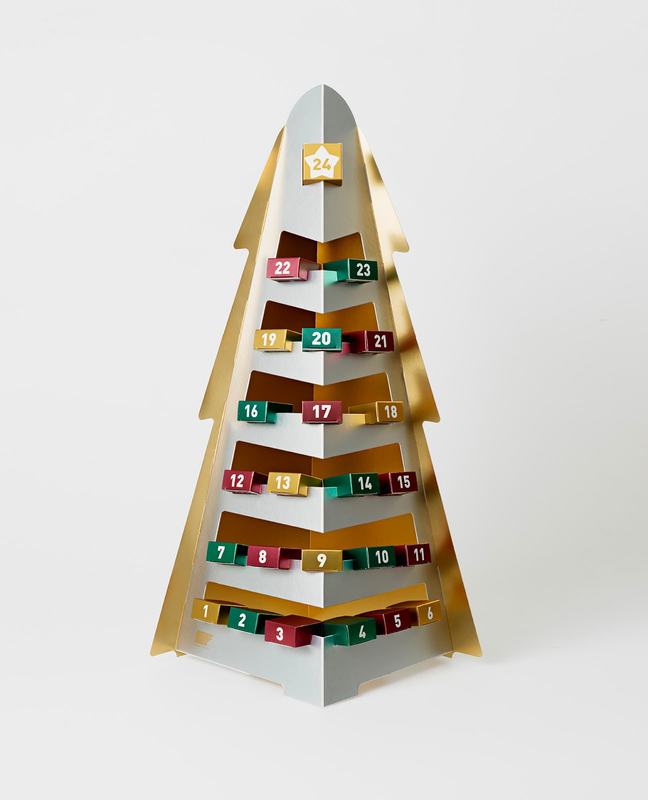 Typography Advent Calendar : Advent calendar on packaging of the world creative