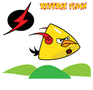 Reverse Flash Superheroes estilo Angry Birds