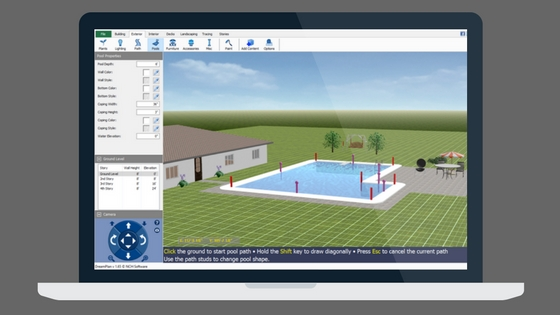 Swimming pool design software new dreamplan options do for Pool design program