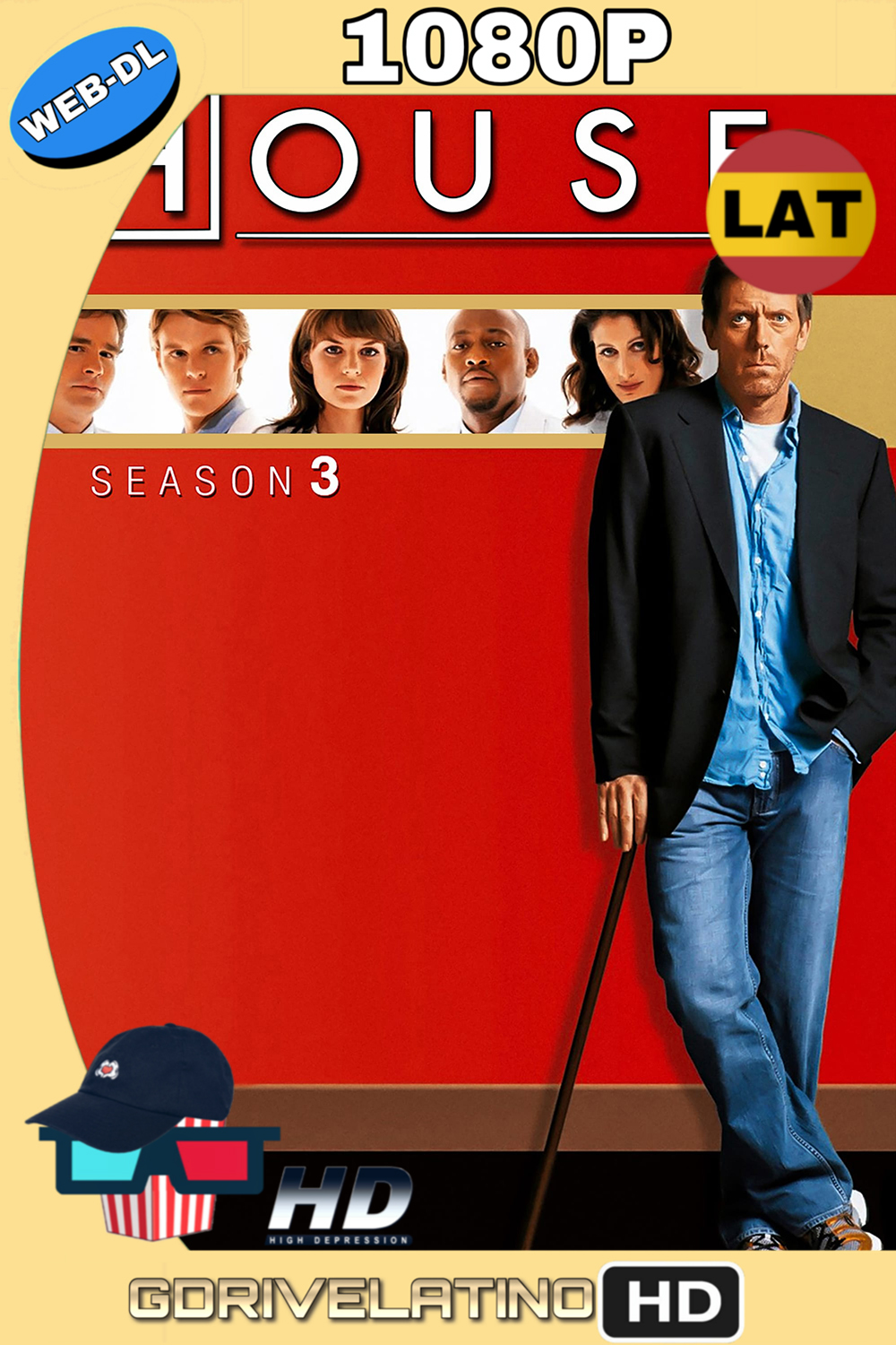 Dr. House Temporada 3 (2006) (24/24) WEB-DL 1080p (Latino-Inglés) MKV