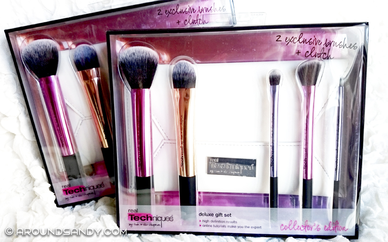 Real Techniques - Deluxe Gift Set, 5 Brushes + Clutch (Edición Limitada)