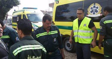إنقلاب سيارة نقيب شرطة بطريق بلبيس الصحراوي