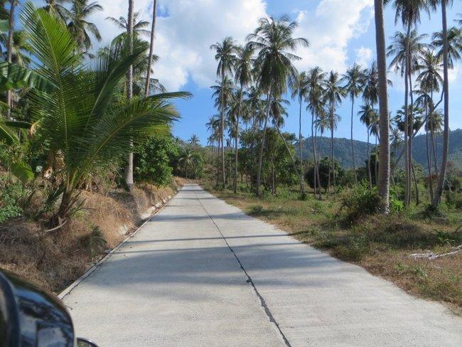 прямая бетонная дорога