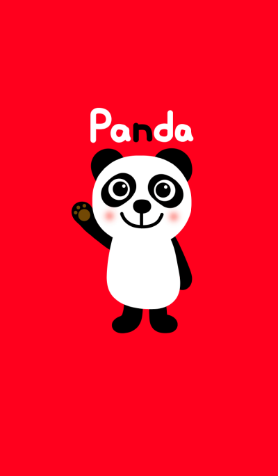 Panda and red