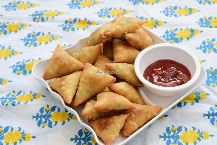 Gujarati Chana Dal Samosa with Homemade Patti - Priya R - Magic of Indian Rasoi