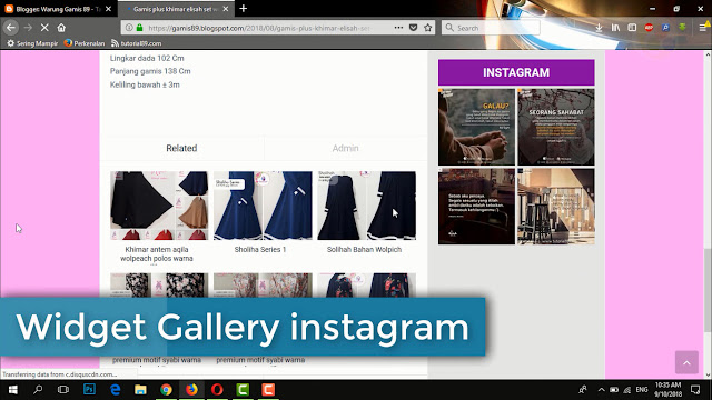 Cara cepat membuat widget instagram di blog + Video