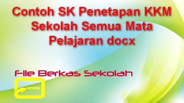 Contoh SK Penetapan KKM Sekolah Semua Mata Pelajaran docx