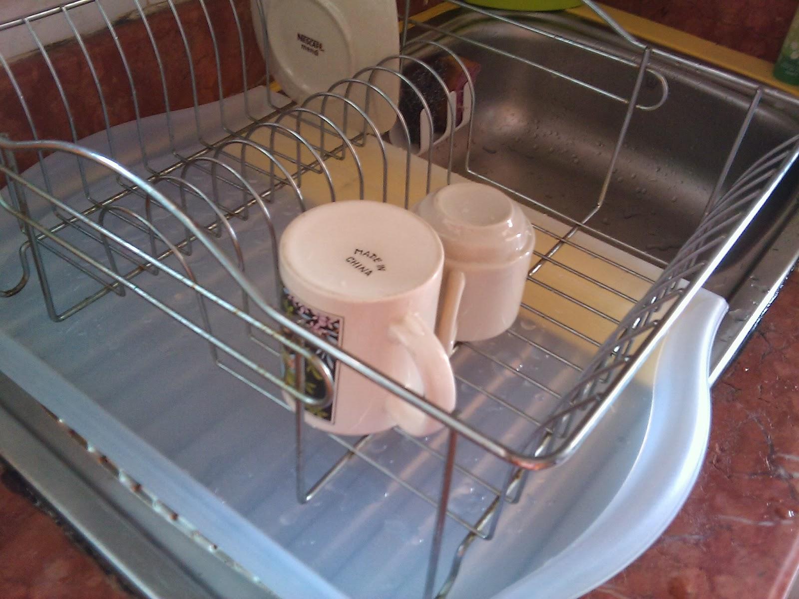 Fungsi 1 Lapik Pengering Pinggan Mangkuk Kat Sinki Ni Jadi Takyahle Mengelap Mencuci Atas Selalu Air Semua Menitik Tray Aje
