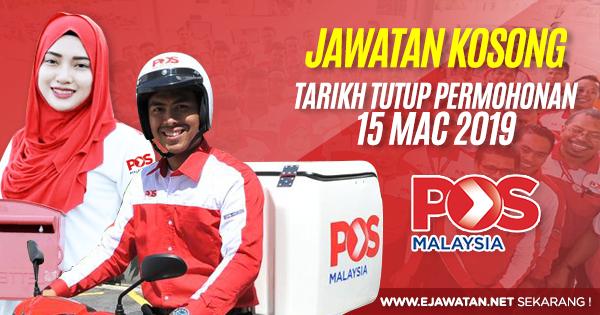 jawatan kosong di pos malaysia berhad 2019