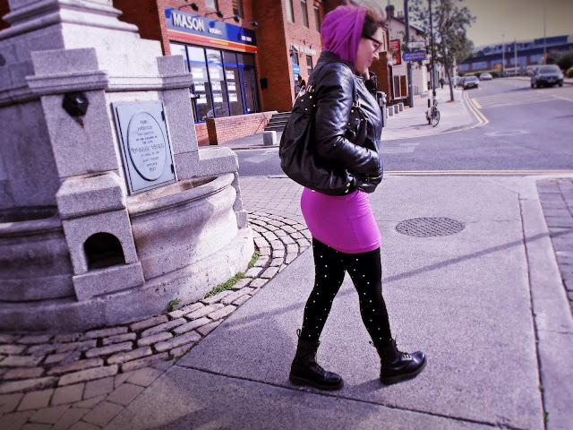 OOID : Sukienka Diesel koloru fuksji, Dr Martens / Dress Diesel magenta, Dr. Martens