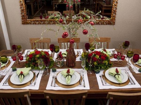 decoração mesa da ceia