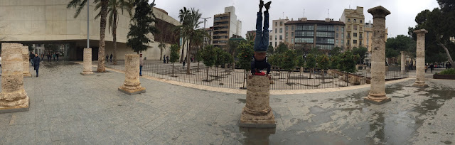 Maybe the hardest headstand I've done - in Valencia, Spain