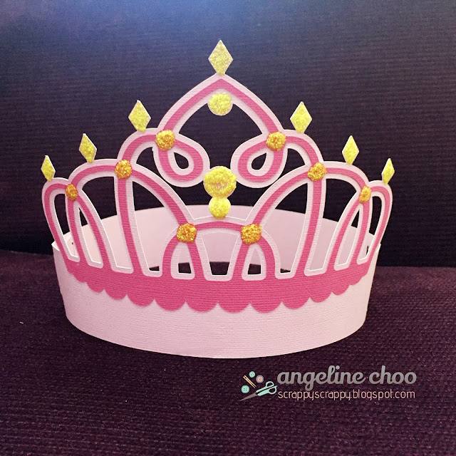 ScrappyScrappy: SVG Attic Birthday Bash Blog Hop - Castle card and Crown #scrappyscrappy #svgattic #castle #princess #tiara #crown #party #card #svg #cutfile #papercraft