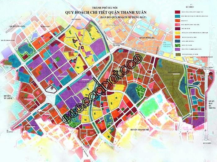 Bản đồ quy hoạch sử dụng đất quận Thanh Xuân