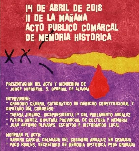 Acto de Memoria Histórica en la Casa del Pueblo