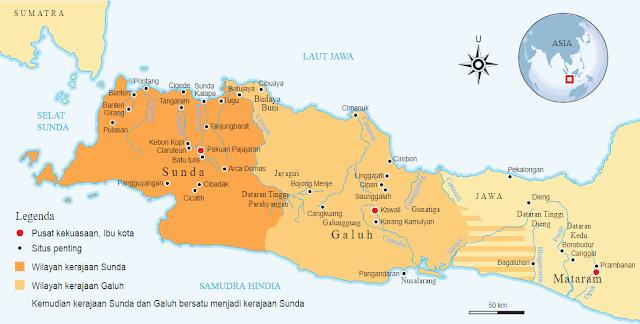 Wilayah Kerajaan Bersatu Sunda dan Galuh