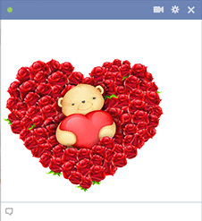 Valentine Bear Facebook Emoticon