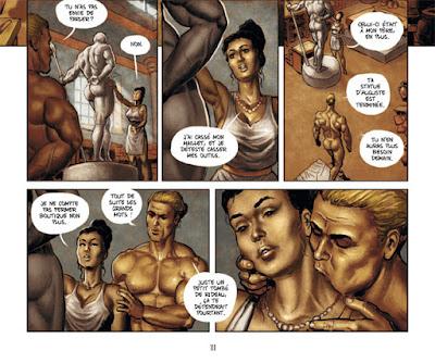 Inguinis - Artémis travaille surune sculpture avec son modèle et amant Sextus