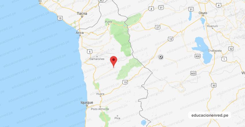 Temblor en Chile de Magnitud 6.2 y Alerta de Tsunami (Hoy Jueves 1 Noviembre 2018) Terremoto, Sismo, Temblor, EPICENTRO - Camiña - Arica - Parinacota - Tarapacá - Antofagasta - ONEMI - www.onemi.cl