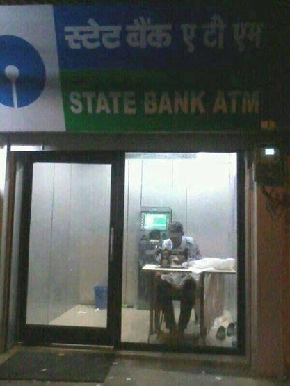 #2 Hanya di India ada penjahit di dalam ATM