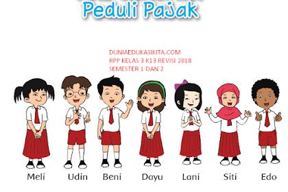 RPP KELAS 3 SD/ MI TEMATIK K13 REVISI 2018 SEMESTER 1 DAN 2