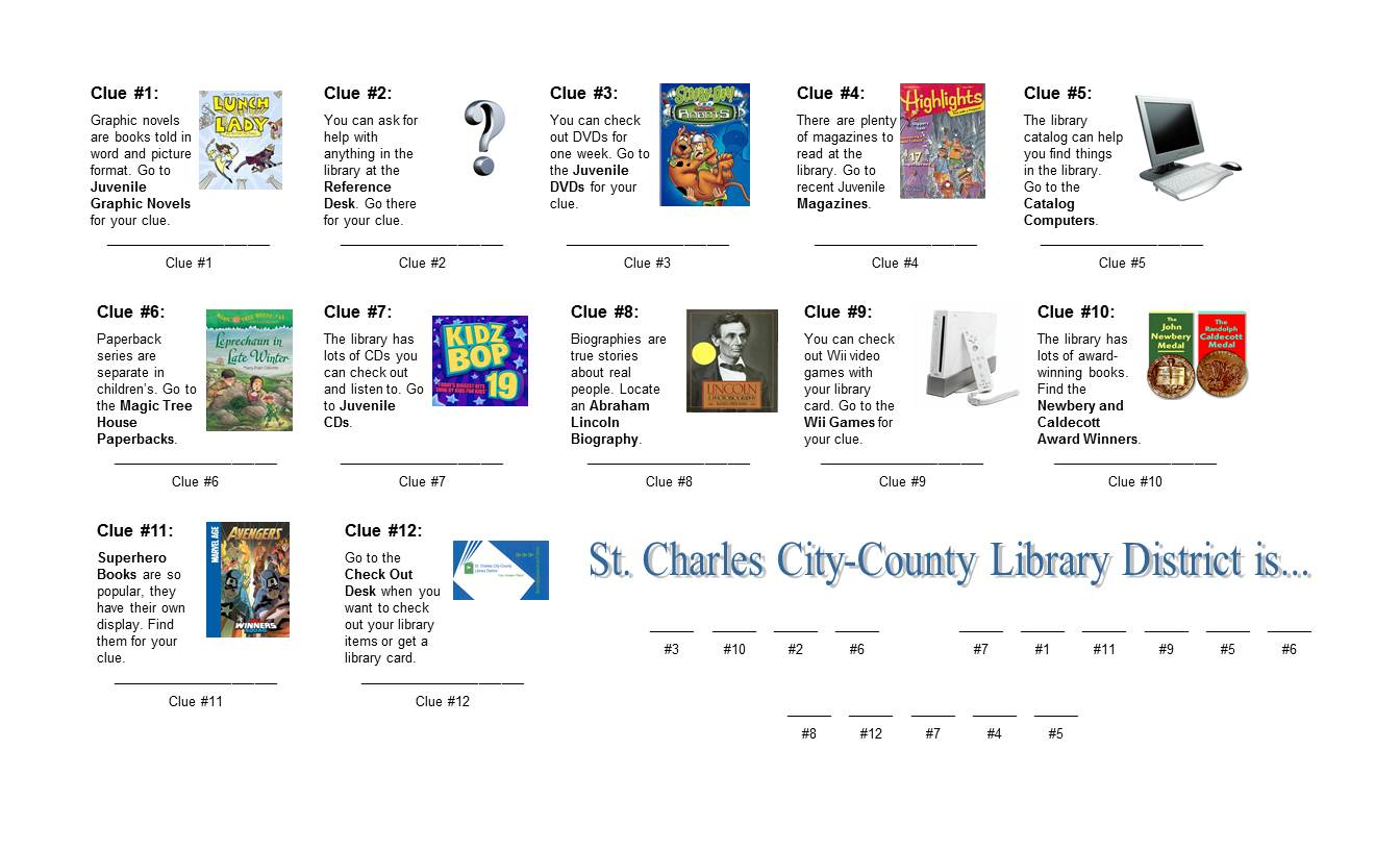 The Show Me Librarian Scavenger Hunts For Library Visits
