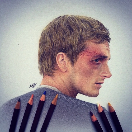08-Josh-Hutcherson-Peeta Mellark-thg-André-Manguba-Celebrities-Drawn-and-Colored-in-with-Pencils-www-designstack-co