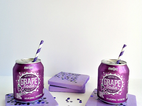 Buttons Galore & More: Make a fun DIY Sequin Coaster Set with the Kids