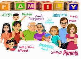 العائلة و الاقارب و المعارف- تعليم الانجليزية بسهولة