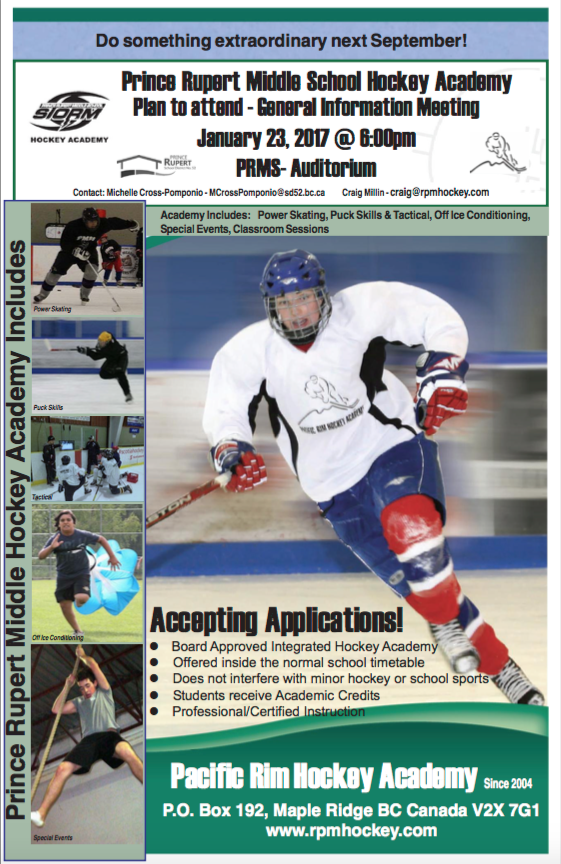 North coast review prince rupert hockey academy programs to host the pacific rim hockey academy has two information session planned for late january with meetings planned for both the prince rupert middle school program publicscrutiny Gallery