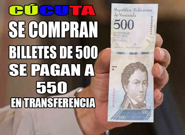 Nuevos Billetes de 500 y 5000 ya se venden en Cúcuta por el 20% más