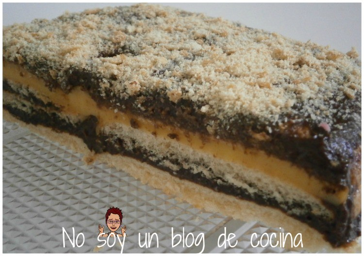 TARTA DE CHOCOLATE Y FLAN (con bizcochitos)
