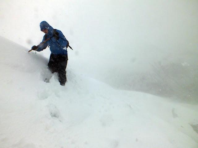 Climber blizzard