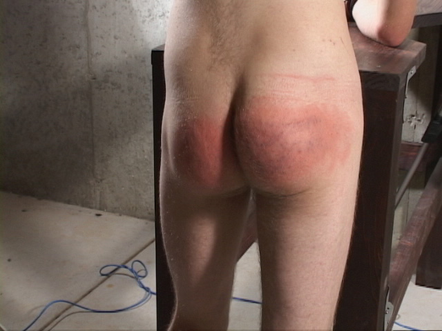 Spanked male bottoms