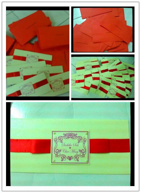 Customised Wedding Invitation Card, customised wedding card, invitation card, wedding invitation card, red ribbon invitation card, customized card