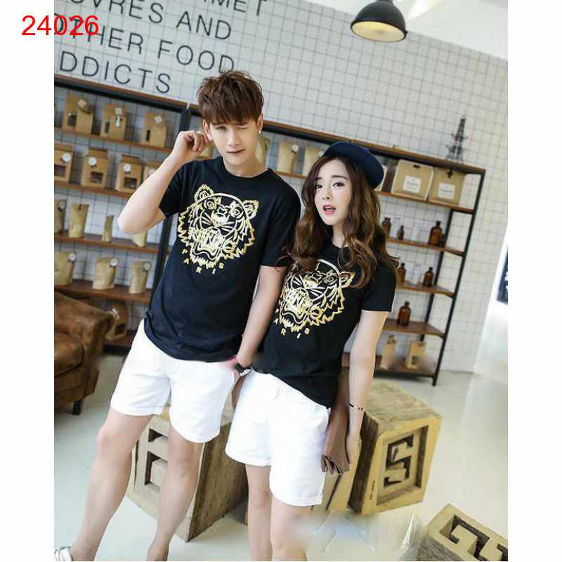 Jual Baju Couple Paris Tiger Hitam - 24026