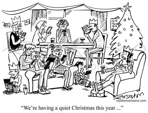 Royston Cartoons: Cartoon advent calendar:Day 21. Silent night