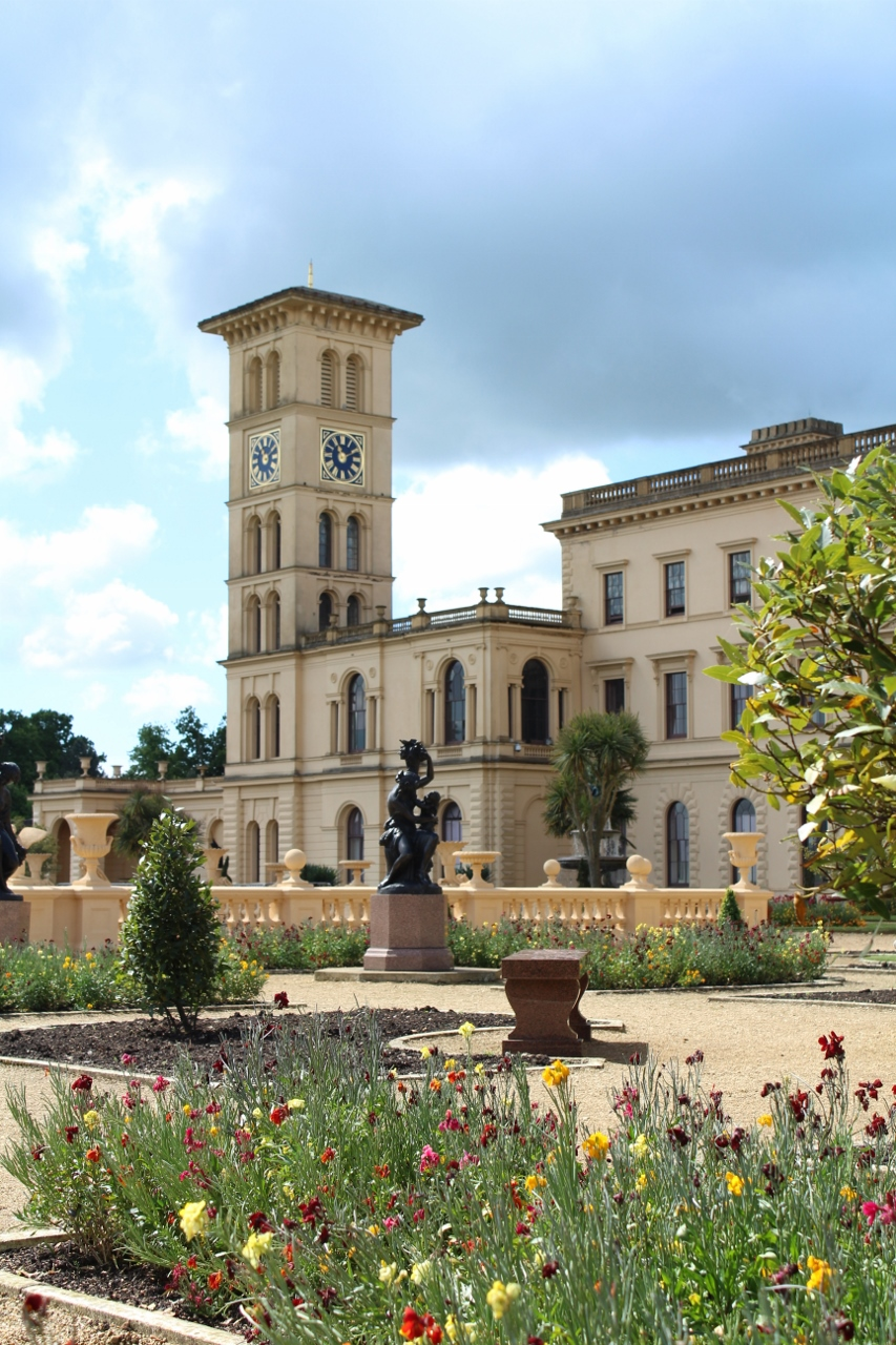 Flowers outside Osborne House
