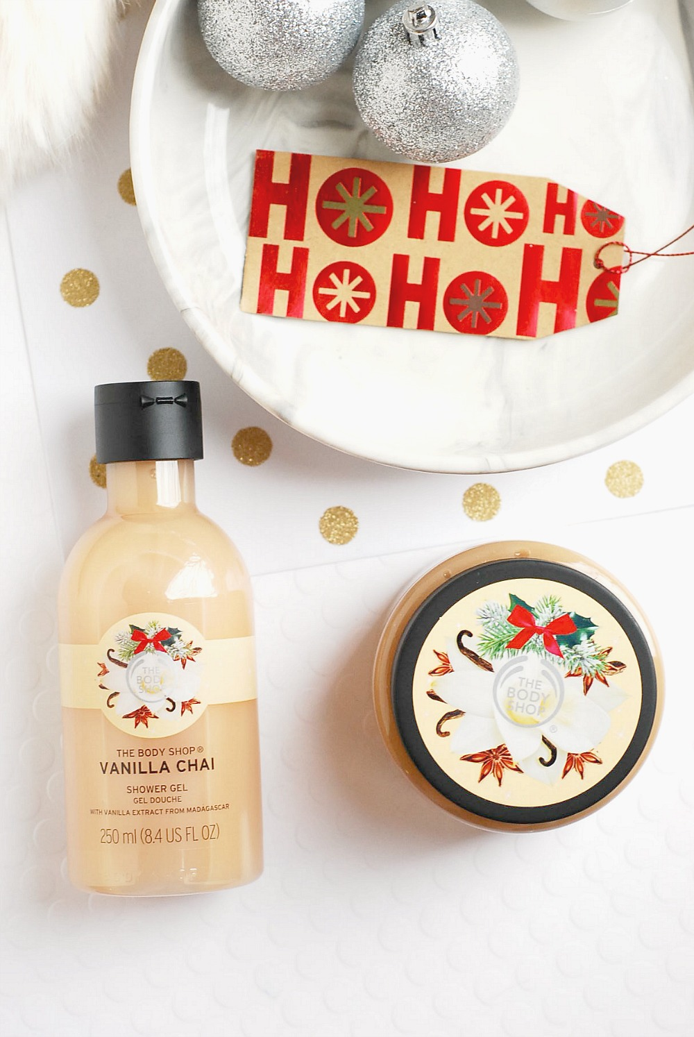 The Body Shop Vanilla Chai review shower gel body scrub