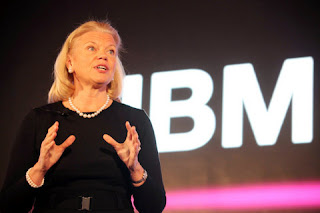 "IBM chairman, CEO Ginni Rometty said in a company program, ""We can see that there is a change in 100 percent jobs."""